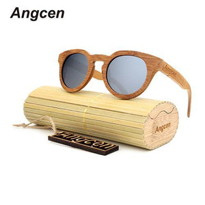 Angcen Ms packages mailed 2016 bamboo, wood retro fashion polarized light green natural-Sunglasses-Bamboo Sunnies