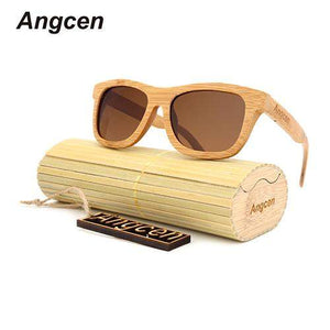 Angcen Bamboo Sunglasses with UV400 Colored Lenses-Sunglasses-Bamboo Sunnies