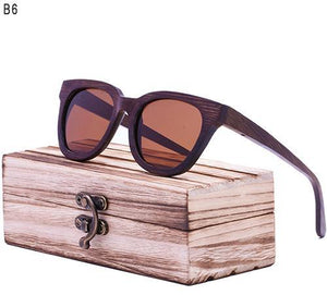 RTBOFY Polarized Vintage Sunglasses with Handcrafted Bamboo Legs-Sunglasses-Bamboo Sunnies