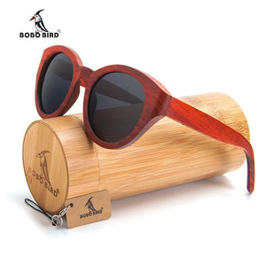 BOBO BIRD Red Bamboo Sunglasses-Sunglasses-Bamboo Sunnies