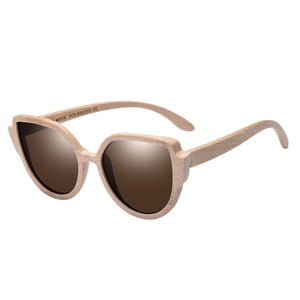 AOFLY Cat Eye Bamboo Sunglasses with Polarized lenses-Sunglasses-Bamboo Sunnies