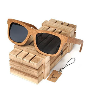 BOBO BIRD Polarized Bamboo Sunglasses with Colored Lenses-Sunglasses-Bamboo Sunnies