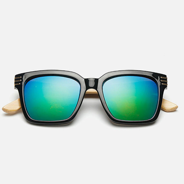 Ralferty Square Anti-Reflective Bamboo Sunglasses-Sunglasses-Bamboo Sunnies
