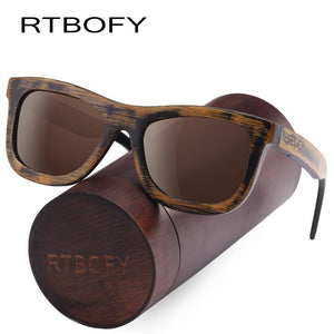 RTBOFY Photochromic Sunglasses with Bamboo Frame and Polarized UV400 Lenses-Sunglasses-Bamboo Sunnies