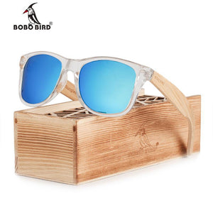 BOBO BIRD Clear Plastic Frame Sunglasses with Bamboo Legs-Sunglasses-Bamboo Sunnies