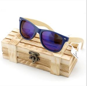 BOBO BIRD Wood Sunglasses Women men With Plastic Frame Bamboo wooden Legs glasses in wood box-Sunglasses-Bamboo Sunnies
