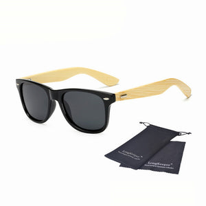 Long Keeper Polarized Bamboo Sunglasses with Mirrored Lenses-Sunglasses-Bamboo Sunnies