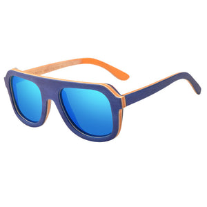 AOFLY Bamboo Sunglasses with Polarized and Mirror Lenses-Sunglasses-Bamboo Sunnies