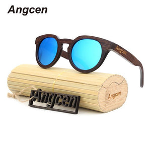 Angcen 2017 NEW Ms packages mailed bamboo, wood retro fashion polarized light green natural-Sunglasses-Bamboo Sunnies