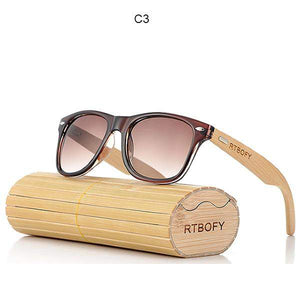 RTBOFY Bamboo Sunglasses with Photochromic and Anti-Reflective UV400 Lenses-Sunglasses-Bamboo Sunnies