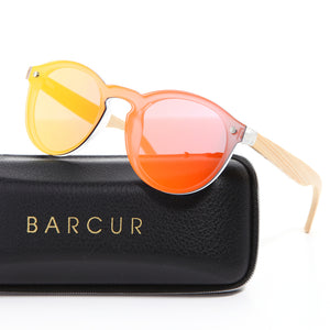 BARCUR Cat Eye Sunglasses with Polarized UV400 Lenses-Sunglasses-Bamboo Sunnies