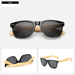 MOLNIYA 2017 New Bamboo legs Sunglasses For Women Men Square Sun Glasses Bamboo Eyewear Mens-Sunglasses-Bamboo Sunnies