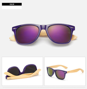 MOLNIYA Square Sunglasses with Bamboo Legs-Sunglasses-Bamboo Sunnies