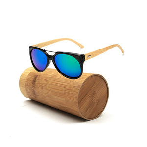 Long Keeper Cat-Eye Bamboo Sunglasses with UV400 Lenses-Sunglasses-Bamboo Sunnies