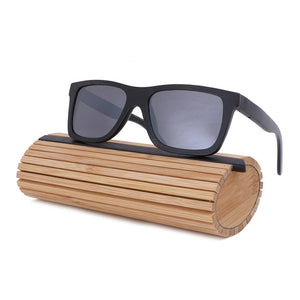 BerWer Black Bamboo Sunglasses with Polarized Lenses-Sunglasses-Bamboo Sunnies