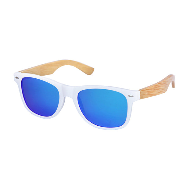 TNKL Retro Bamboo Sunglasses with Anti-Reflective Polarized Lenses-Sunglasses-Bamboo Sunnies