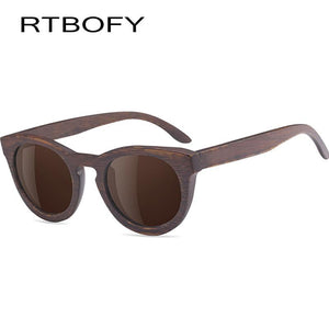 RTBOFY Handmade Bamboo Sunglasses with UV400 Polarized Lenses-Sunglasses-Bamboo Sunnies