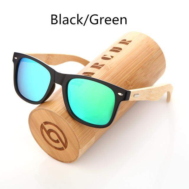 BARCUR Bamboo and Plastic Sunglasses with UV400 Polarized Lenses-Sunglasses-Bamboo Sunnies