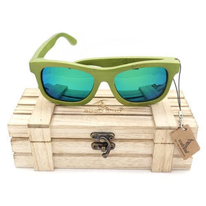 BOBO BIRD Green Bamboo Sunglasses with Polarized Lenses-Sunglasses-Bamboo Sunnies