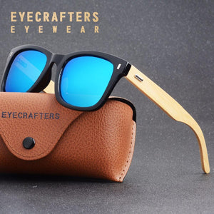 Eyecrafters Retro Bamboo Sunglasses with Polarized Lenses-Sunglasses-Bamboo Sunnies