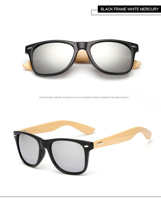 WarBlade Eco-Friendly Bamboo Sunglasses with Mirrored UV400 Lenses-Sunglasses-Bamboo Sunnies
