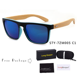 Long Keeper Bamboo Sunglasses with UV400 Lenses-Sunglasses-Bamboo Sunnies