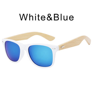 HDCRAFTER Retro Sunglasses with Bamboo Legs and UV400 Protective Lenses-Sunglasses-Bamboo Sunnies