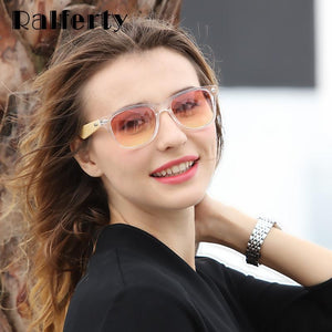 Ralferty Bamboo Sunglasses with Transparent Frame and Candy Colored Lenses-Sunglasses-Bamboo Sunnies