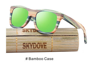 SKYDOVE Chunky Colorful Skateboard Style Wooden Bamboo Sunglasses with UV400 Lenses-Sunglasses-Bamboo Sunnies