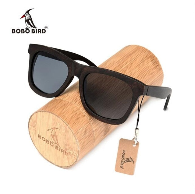 5f5be89db72 BOBO BIRD Ebony Wooden Sunglasses with Polarized UV400 Lenses and Wooden  Gift Box-Sunglasses-