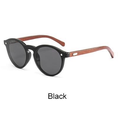 59c8d8f299 Ralferty Mirror Rimless Style with Dark Bamboo Temples and UV400 Lenses