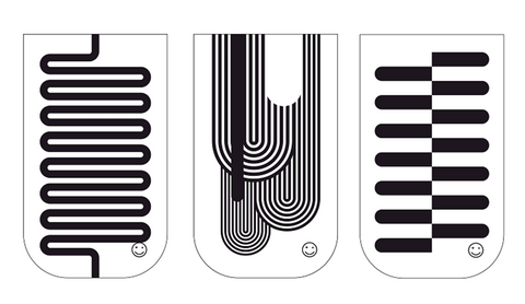 Abstract Black & White GO POCKET 3 Pack