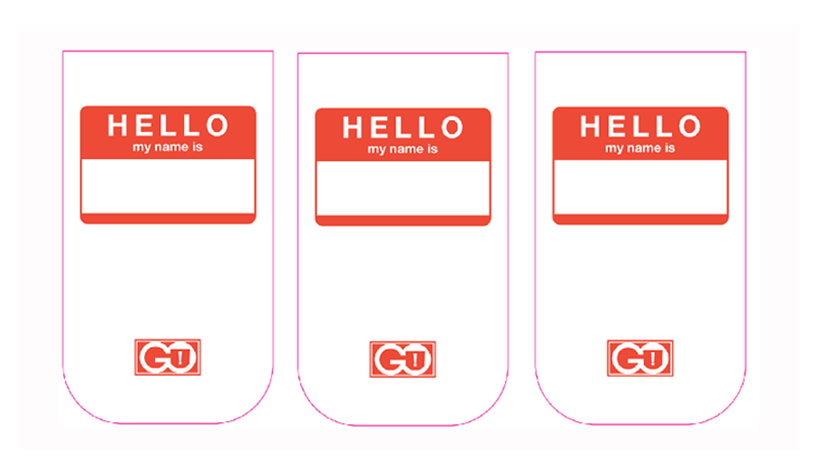 """Hello My Name Is"" GO POCKET 3 Pack"
