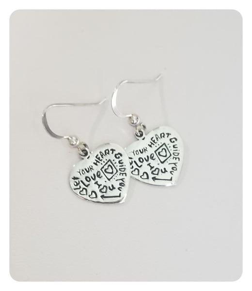 Let Your Heart Guide You Earrings