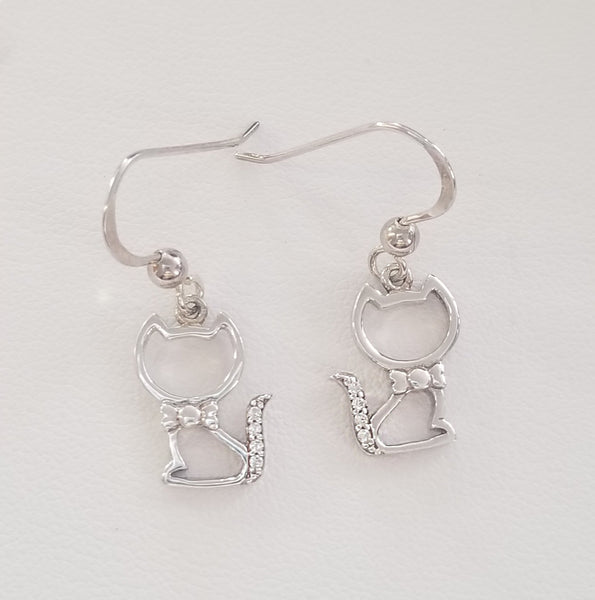 Kitty Kat Cz Earrings