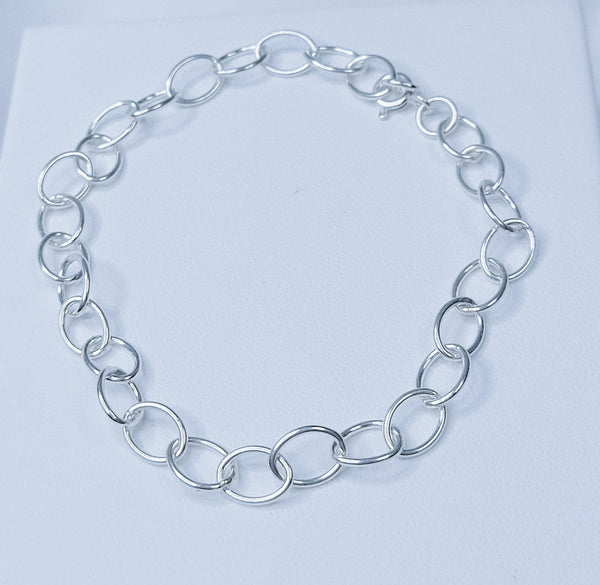 Sterling Silver Links Bracelet