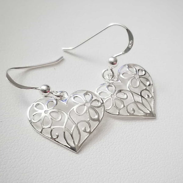 Flowers In Hearts Earrings