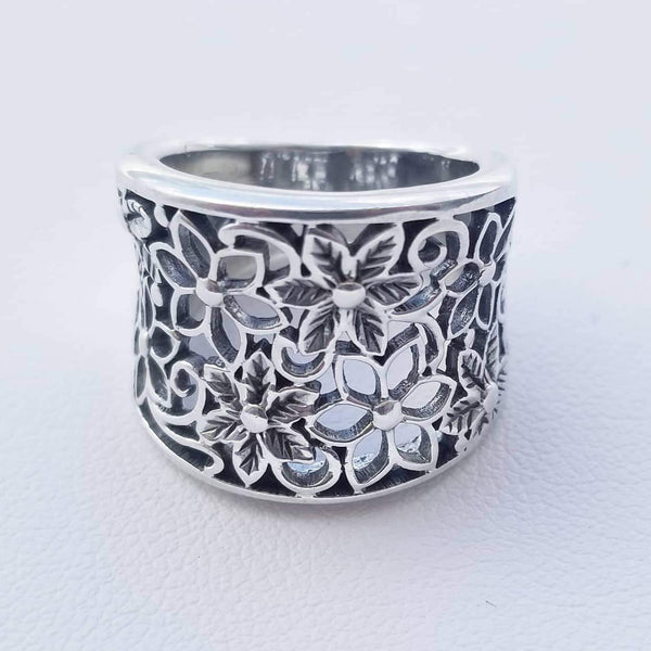 Flowers Wide Ring
