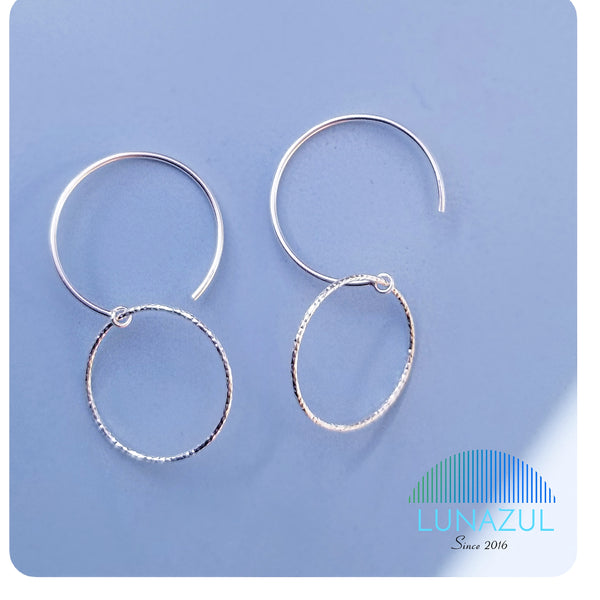 Belinda Sterling Silver Hooks Earrings