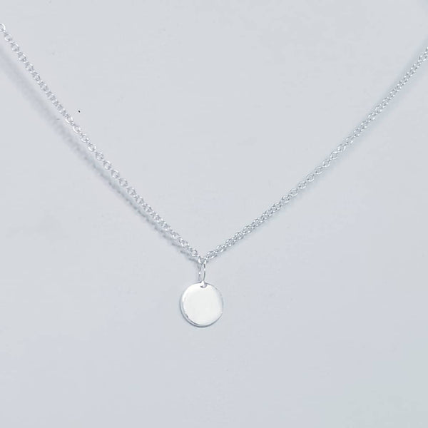 Tiny Disc Necklace