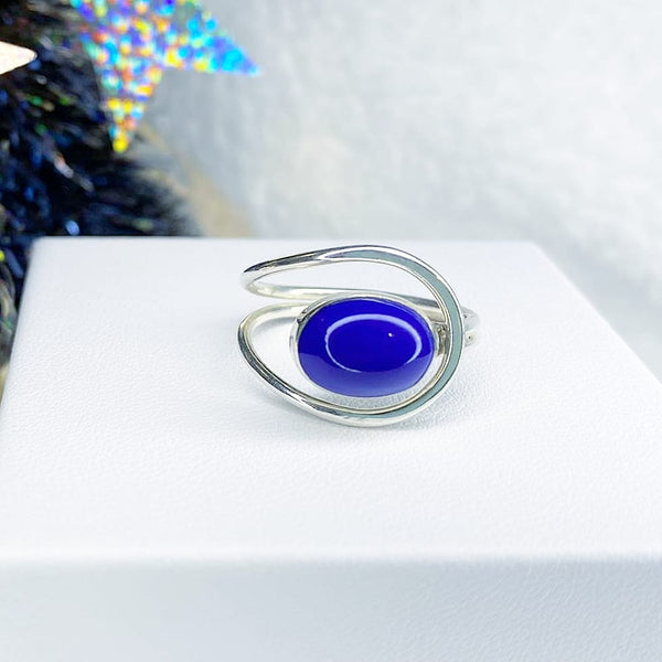 Galactic Blue Stone Ring