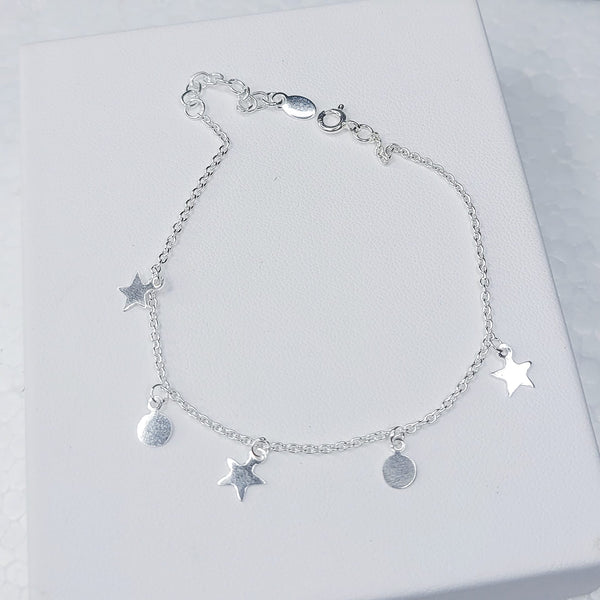 Sterling Silver Happy Star Bracelet