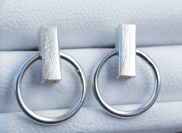 Minimalist Button Earrings