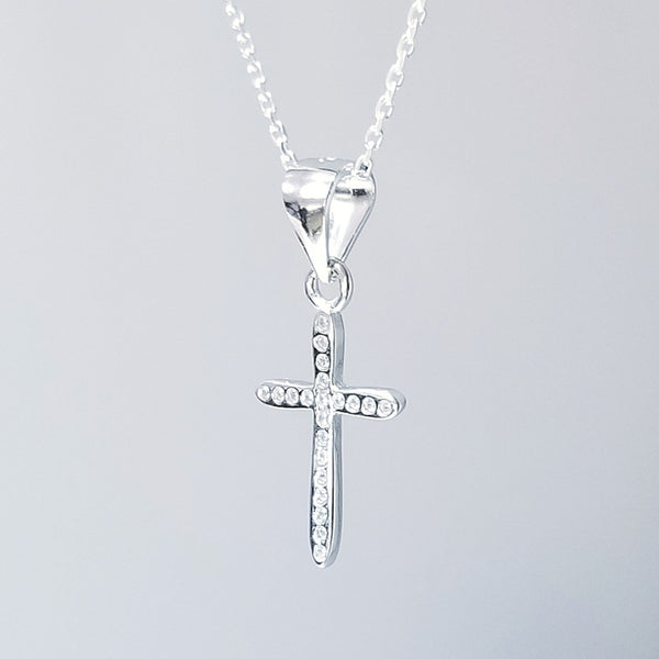 Faith Cross with Zircon Necklace