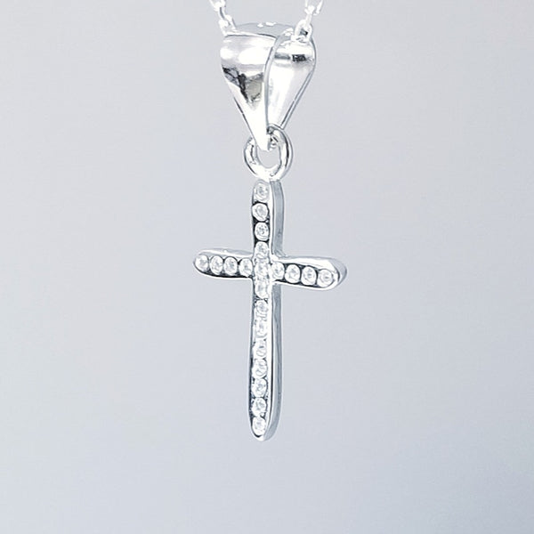 Faith Cross with Zircon Pendant