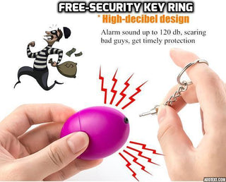 Scream Load Self Defense KeyChain Alarm