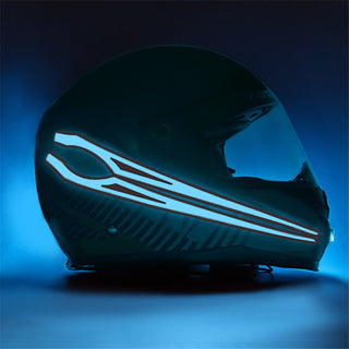 Motorcycle Helmet Safety Single Bar LED Lights Kit