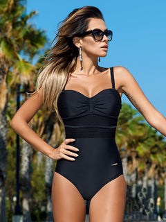 Patchwork Mesh Bathing Suit