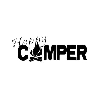 Happy Camper Fire Decal