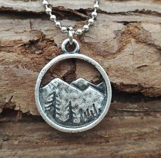 Find Your Road Charm Necklace